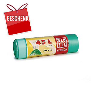 Alufix Müllbeutel, HDPE 15 μm, 45 l, grün, 20 Stück