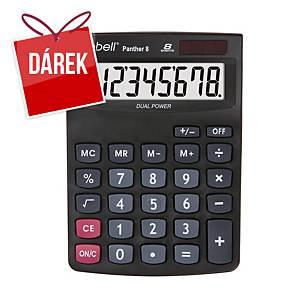 Stolní kalkulačka Rebell Panther, 8-místný displej, černá
