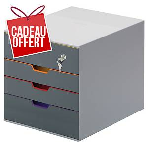 Module de classement Durable Varicolor Safe - 4 tiroirs - coloris assortis