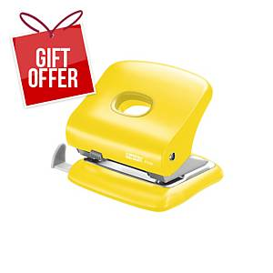 RAPID FC30 2-HOLE PAPER PUNCH YELLOW