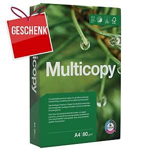 Kopierpapier Multicopy A4, 80 g/m2, weiss, Pack à 500 Blatt
