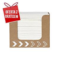 Serwetki DUNI 20 x 20 cm w dozowniku, białe, 50 sztuk
