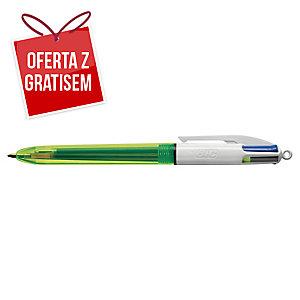 Długopis automatyczny BIC 4 Colours Fluo