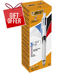 BIC 4 COLOURS MECHANICAL PENCIL 0.7MM - PRICE PER BOX OF 12