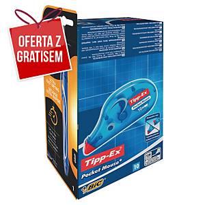 Korektor w taśmie TIPP-EX Pocket Mouse, zestaw 10 + 4 długopisów BIC Cristal Up