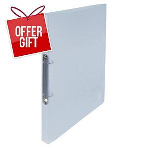 Oxford 2nd Life 2-Ring Binder PP 20mm Spine Clear Translucent