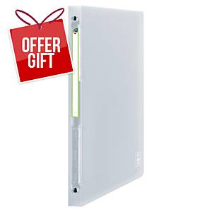 Oxford 2nd Life 4-Ring Binder PP 20mm Clear Translucent