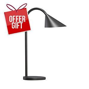 Unilux Sol LED Black Desk Lamp