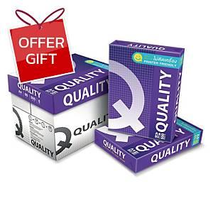 QUALITY PURPLE COPY PAPER A4 80G WHITE 500 SHEETS/REAM - 5 REAMS/BOX