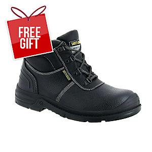 SAFETY JOGGER BESTBOY 2 S3 HIGH CUT BLACK SAFETY SHOES SIZE 44