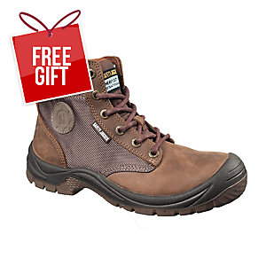 SAFETY JOGGER DAKAR S3 HIGH CUT BROWN SAFETY SHOES SIZE 44