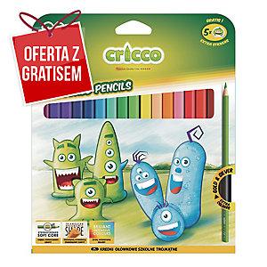 Kredki CRICCO trójkątne, opakowanie 24 kolory