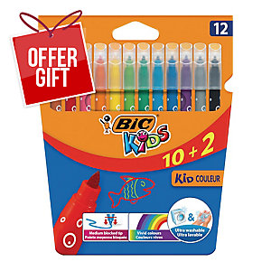 PK12 BIC KID COULEUR FELT-TIP PEN