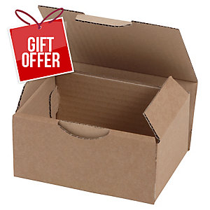POSTAL BOX ECO 350X220X130MM BROWN PACK 50