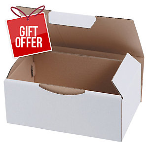 POSTAL BOX ECO 180X100X50MM WHITE PACK 50