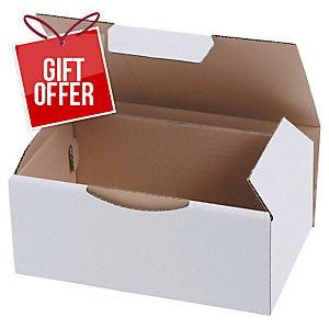 POSTAL BOX ECO 350X220X130MM WHITE PACK 50