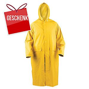 Regenmantel mit Kapuze PVC, Größe XXXL, gelb