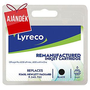 Lyreco kompatibilis nyomtatópatron HP OfficeJet, C2P23A, fekete, HP kód: 934 XL