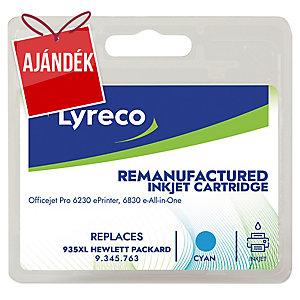 Lyreco kompatibilis nyomtatópatron HP OfficeJet, C2P24A, ciánkék, HP kód: 935 XL