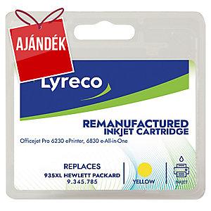 Lyreco kompatibilis nyomtatópatron HP OfficeJet, C2P26A, sárga, HP kód: 935 XL