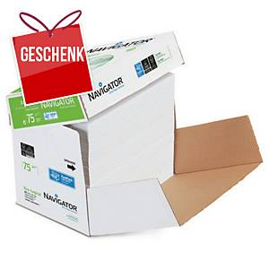 Kopierpapier Navigator Eco-logical A4, 75 g/m2, weiss, Cleverbox à 2 500 Blatt