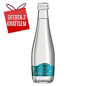 Woda mineralna KROPLA DELICE gazowana, zgrzewka 12 szklanych butelek x 330 ml