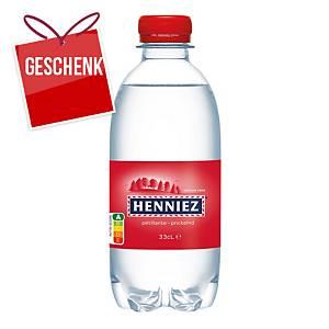 Henniez rot Mineralwasser mit Kohlensäure 33 cl, Packung à 24 Flaschen