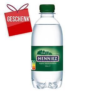 Henniez grün Mineralwasser mit wenig Kohlensäure 33 cl, Packung à 24 Flaschen