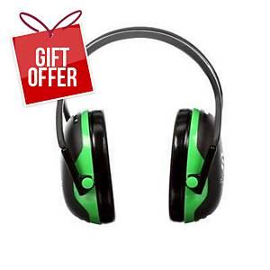 3M Peltor X1A Earmuffs Headband Green