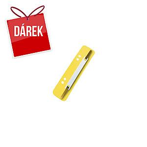 Esselte úchytky do rychlovazače, barva žlutá, 100 kusů
