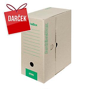 Emba Archivačná prenosná krabica 330x260x150mm A4, farba prírodná, 20 kusov