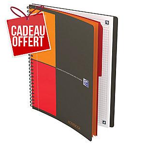 Cahier spirale Oxford Activebook B5 - 160 pages - quadrillé