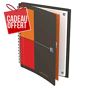 Cahier spirale Oxford Meetingbook B5 - 160 pages - quadrillé