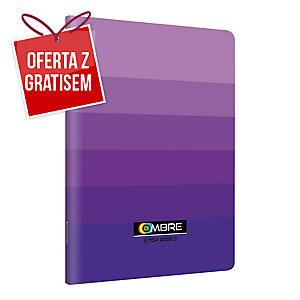 Zeszyt TOP2000 OMBRE A5, 60 kartek, fioletowy