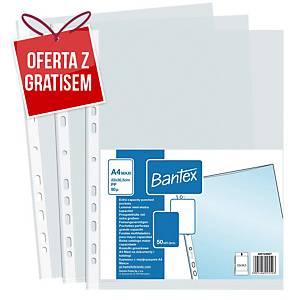 Koszulki groszkowe BANTEX, A4 Maxi, 90 mikronów, 50 sztuk