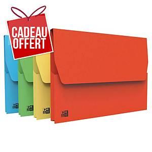 Chemise avec poche Fast - carte kraft - coloris assortis - paquet de 50