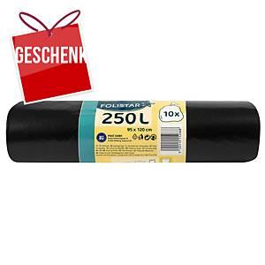 Alufix Economy Müllbeutel HDPE Polyethylen, 240 l schwarz