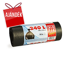 Alufix Economy szemeteszsák 240 l, fekete, 10 zsák/tekercs