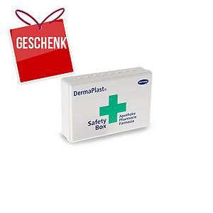 Apotheken-Box DermaPlast Safety, ABS-Kunststoff, 21x14x5,5 cm, 27-teilig gefüllt