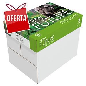 Caixa 5 resmas de 500 folhas de papel New Future Premium - A4 - 80 g/m²
