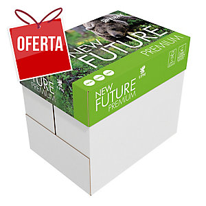 Caixa de 5 pacotes de 500 folhas papel FUTURE Premiumtech A4 80g/m2 branco