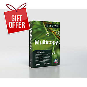 Multicopy Zero Carbon-Neutral Premium Paper, A4, White, 80g, Ream of 500 Sheets