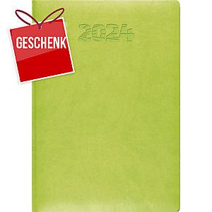 Agenda Simplex Simply Flex 6800J3, 1 Tag pro Seite, A5, Kunstleder, hellgrün