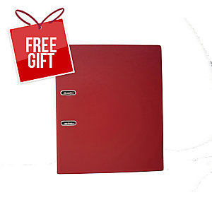 EMI A4 Lever Arch File 875 Red 3 Inches