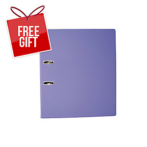 EMI A4 Lever Arch File 875 Purple 3 Inches