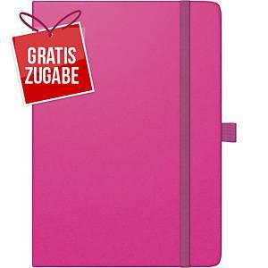 Buchkalender 2020 Brunnen 79166 Kompagnon, 1 Woche / 2 Seiten, A5, pink