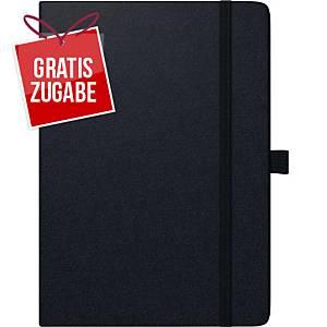 Buchkalender 2020 79166, 1 Woche / 2 Seiten, 21x26cm, schwarz