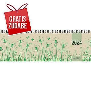 Tischquerkalender 2020 Zettler 159, 1 Woche / 2 Seiten, 32 x 11cm, mit Motiv