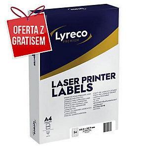 Etykiety adresowe LYRECO PREMIUM do drukarek laserowych, 63,5x33,9mm