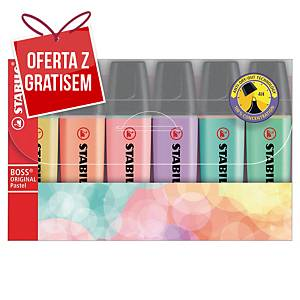 Zakreślacz Stabilo Boss Orginal Pastel, miks kolorów